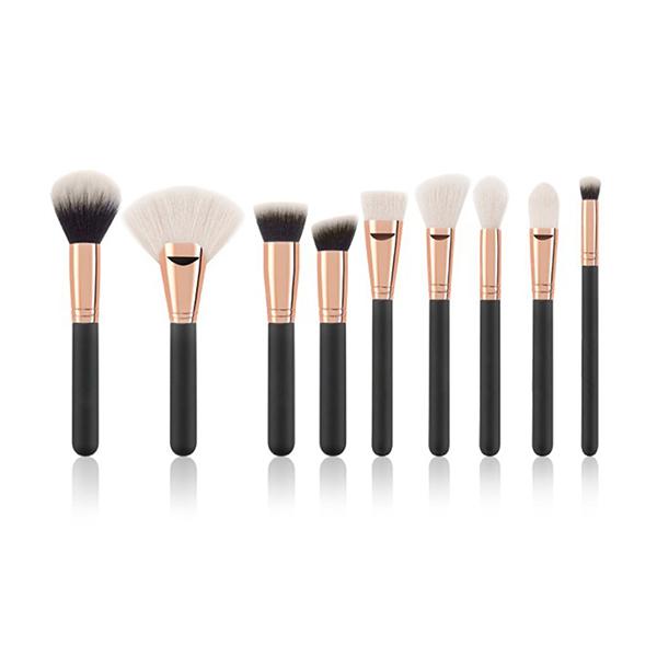 9pcs black makeup brush