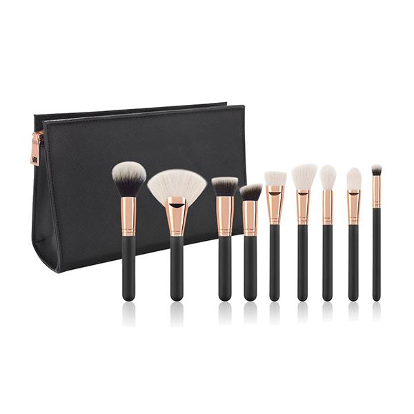 9pcs black makeup brushes