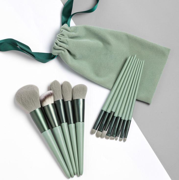 Cosmetics Tools Details Brush Powder Brush Flat Brush Angled Brush