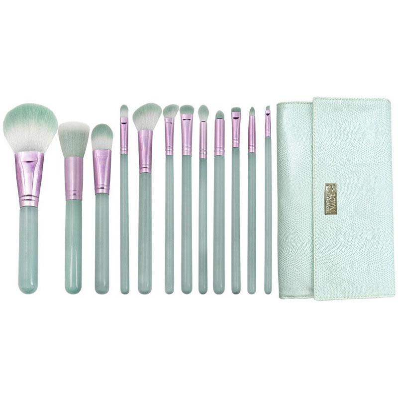 light blue makeup brush set