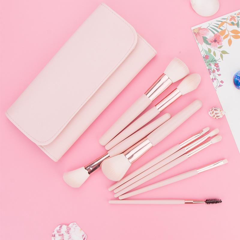 makeup brush set with pu bag