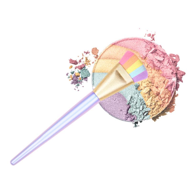rainbow makeup brush